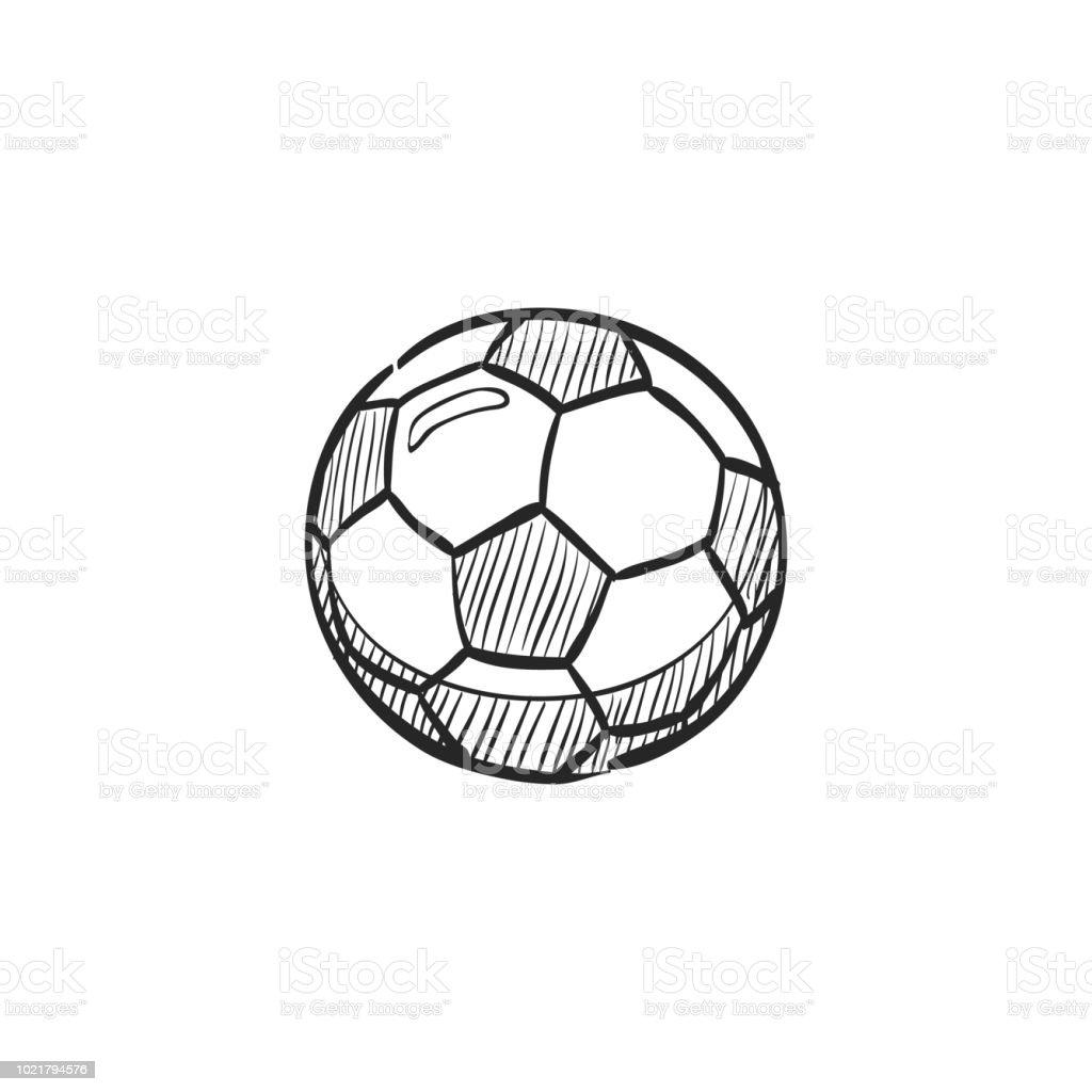 Skizzensymbol Fussball Stock Vektor Art Und Mehr Bilder Von