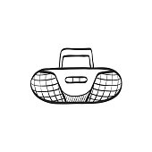 Sketch icon - Tape player