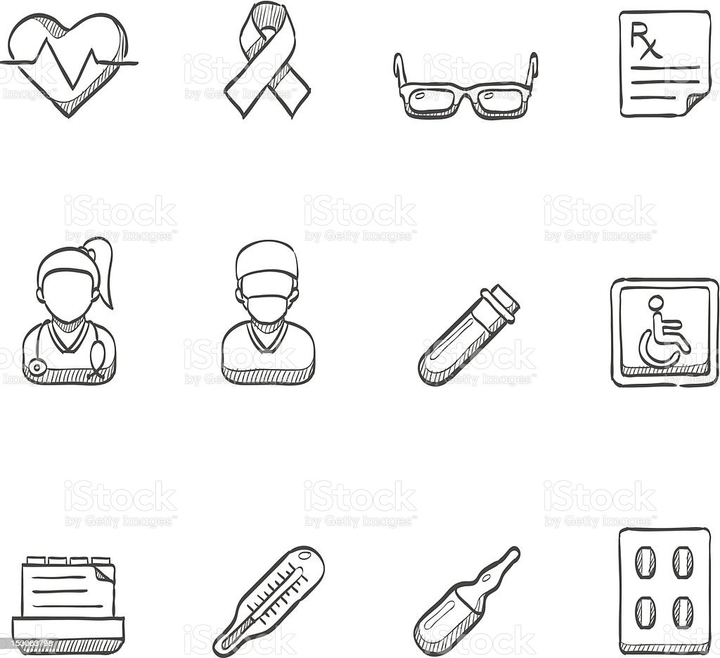 Sketch Icons - Medical 3 royalty-free stock vector art