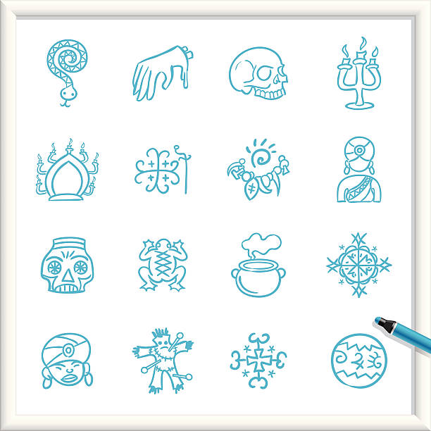 Sketch Icons - Voodoo Illustration of Voodoo Icons. The icons are made of flat shapes, no brushes and strokes. voodoo stock illustrations
