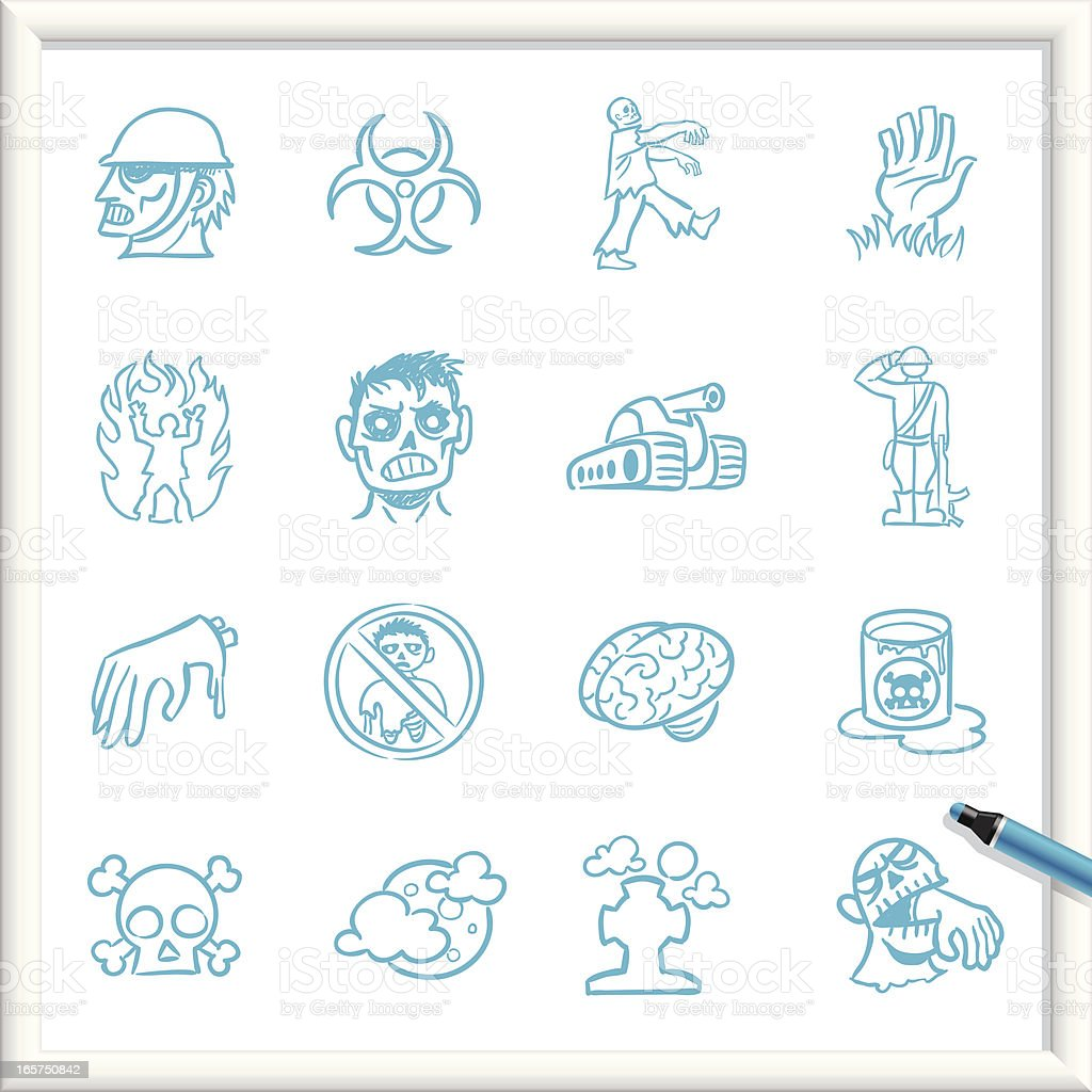 Sketch Icons - Zombie Infestation royalty-free stock vector art
