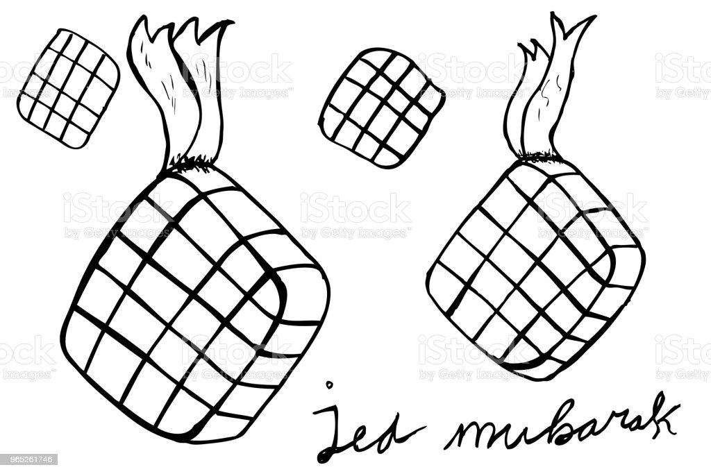 sketch ketupat (indonesia traditional food) sketch ketupat - stockowe grafiki wektorowe i więcej obrazów azja royalty-free