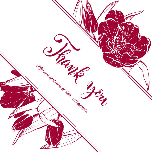 Royalty Free Silhouette Of The Spring Flower Borders Clip Art