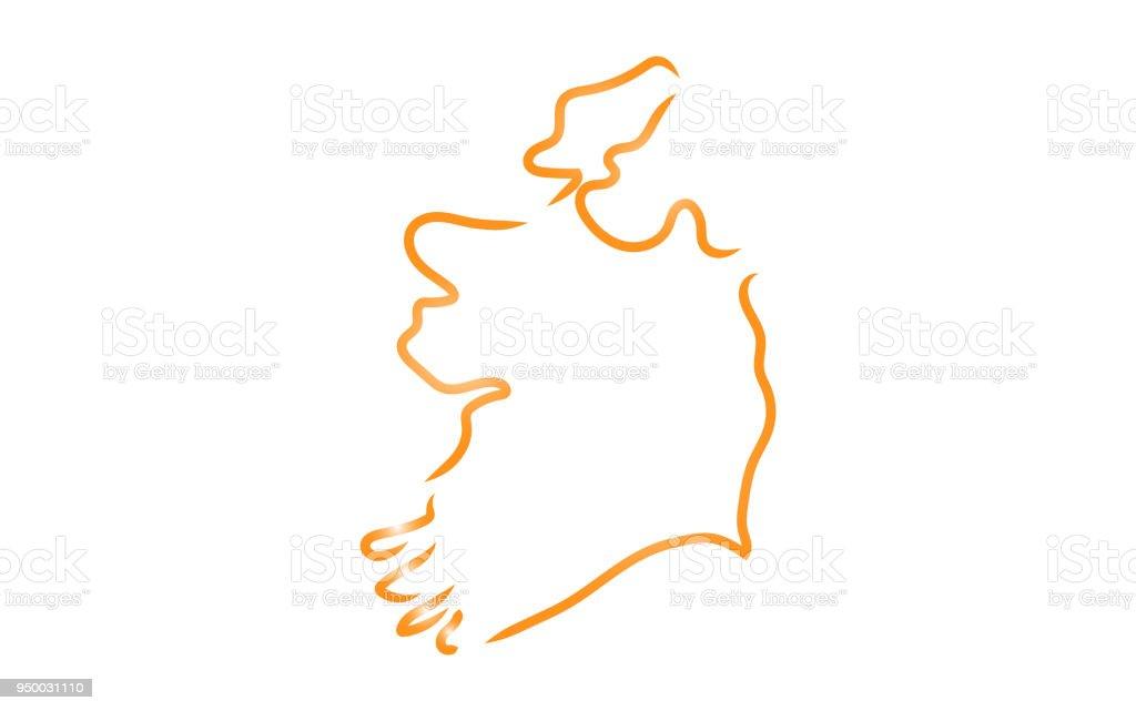 Sketch Map Of Ireland.Sketch Map Of Ireland Stock Illustration Download Image Now Istock