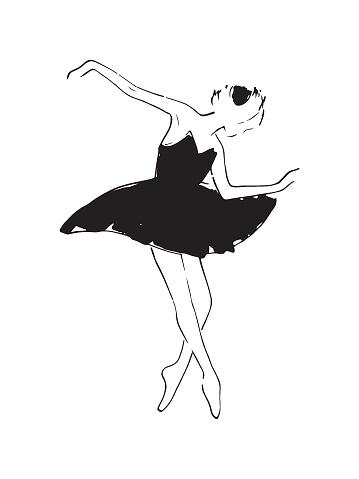 Sketch of a ballerina