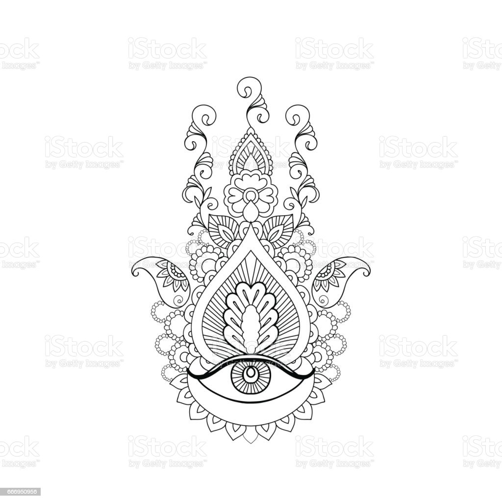 Sketch of a beautiful mermaid on a white background stock vector art russia digitally generated image good luck charm hamsa symbol henna tattoo buycottarizona Images