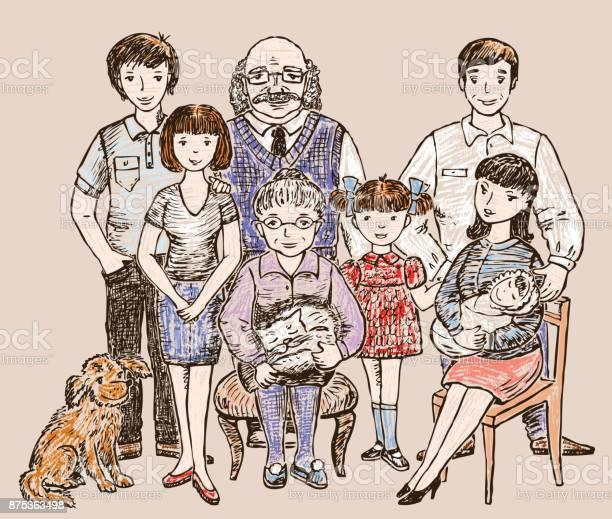 Sketch of a big happy family vector id875363498?b=1&k=6&m=875363498&s=612x612&h=hjf8tztpzgpwzvkd6wftlowg05g2szcq1ixxiauocvc=