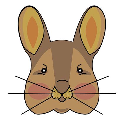 sketch of a cute rabbit Animal illustration print