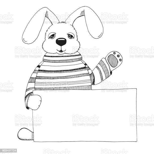 Sketch of a rabbit with a poster vector happy easter vector id933457724?b=1&k=6&m=933457724&s=612x612&h= 0bruem7pjxvnuwcrcy86x3zyr1stfz830ew 3ah5ji=