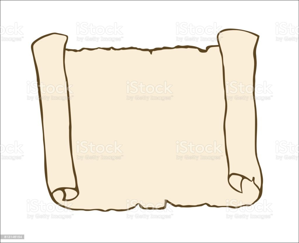 Sketch Of An Ancient Scroll Stock Vector Art & More Images