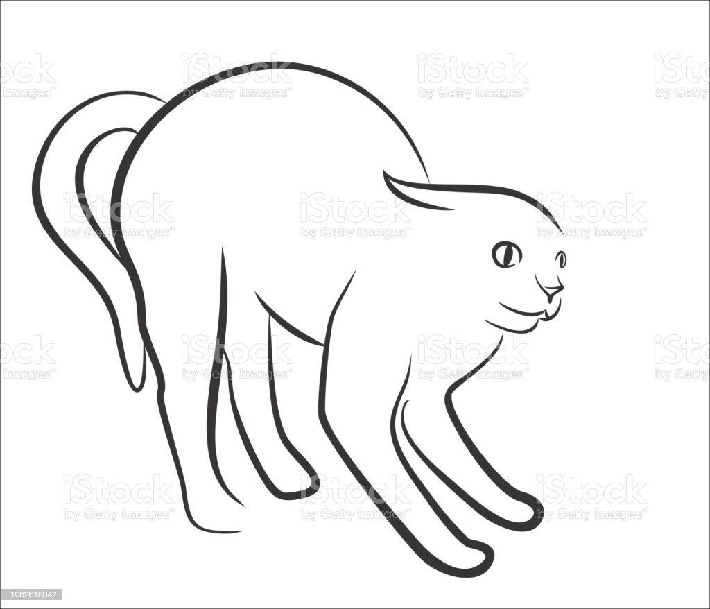 Vetores De Desenho De Gato Bravo E Mais Imagens De Animal Istock