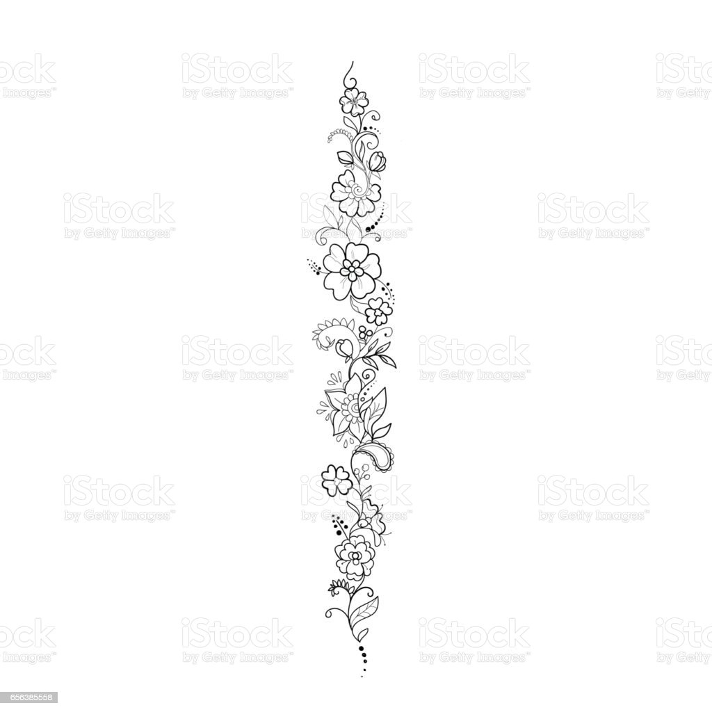 Sketch of beautiful flowers on a white background. vector art illustration