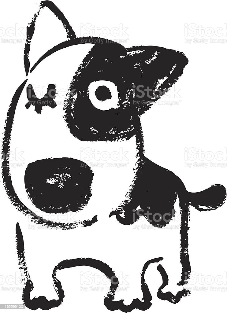 Sketch of bullterrier royalty-free stock vector art