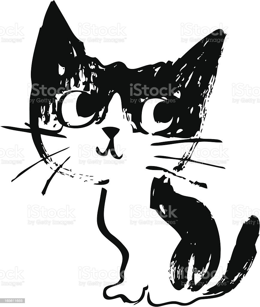 Sketch of cat vector art illustration