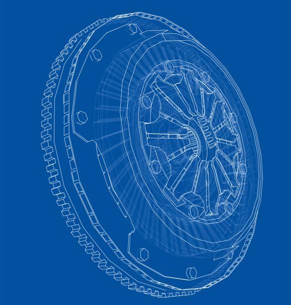 illustrazioni stock, clip art, cartoni animati e icone di tendenza di sketch of clutch basket for the car - close up auto
