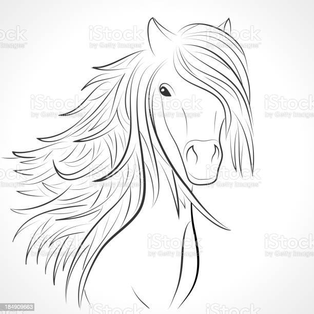 Sketch of horse head with flying mane on white vector vector id184909663?b=1&k=6&m=184909663&s=612x612&h=pd2mn skvjifnqziusults6lsspetmfdsvixdo0m ko=
