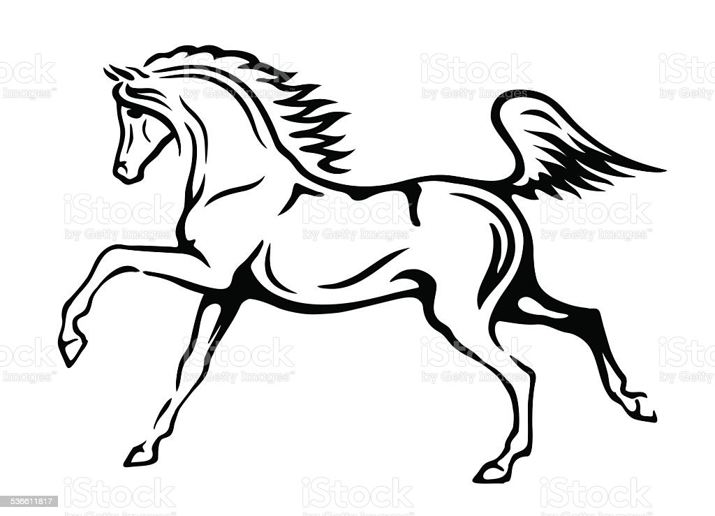 Sketch Of Horse Stock Illustration Download Image Now Istock