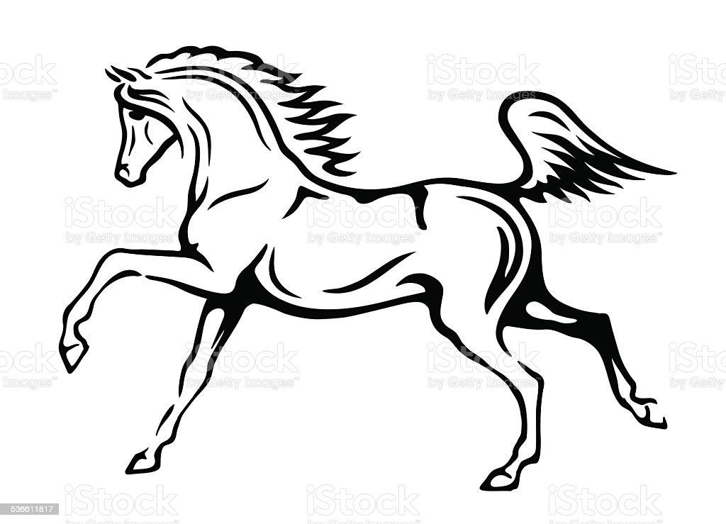 Sketch of horse vector art illustration