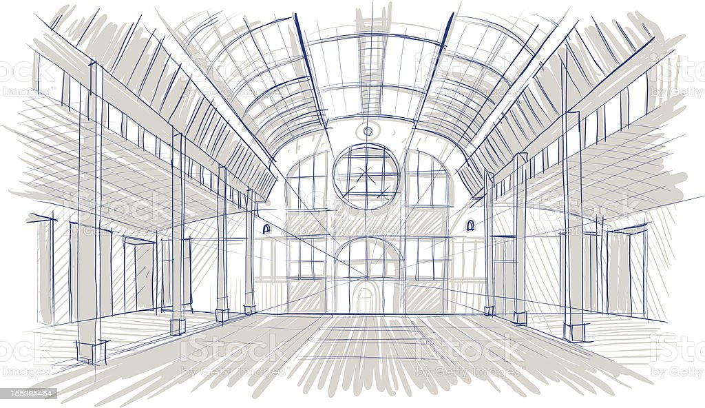 sketch of interior royalty-free sketch of interior stock vector art & more images of architecture
