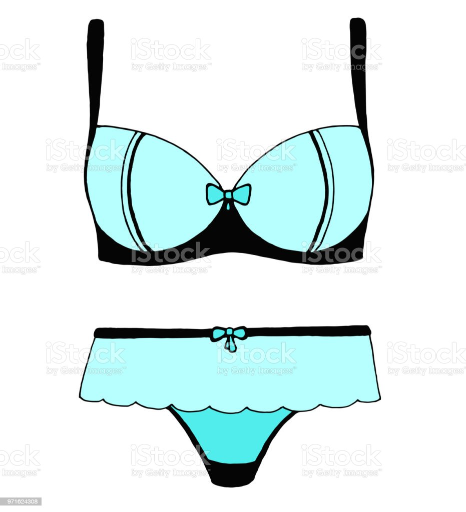 Sketch Of Lingerie Bra And Panties Vector Illustration Stock
