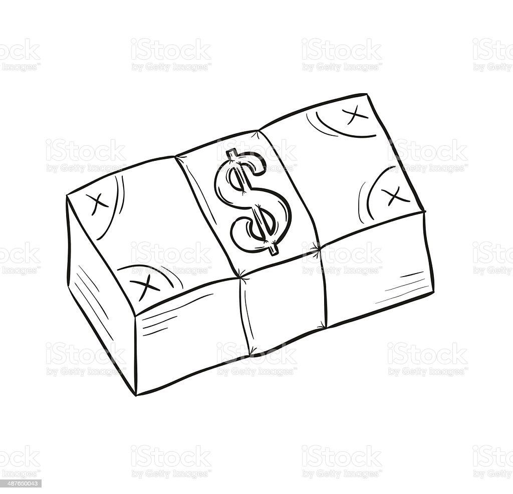 Skizze Von Geld Stock Vektor Art Und Mehr Bilder Von Bankgeschäft