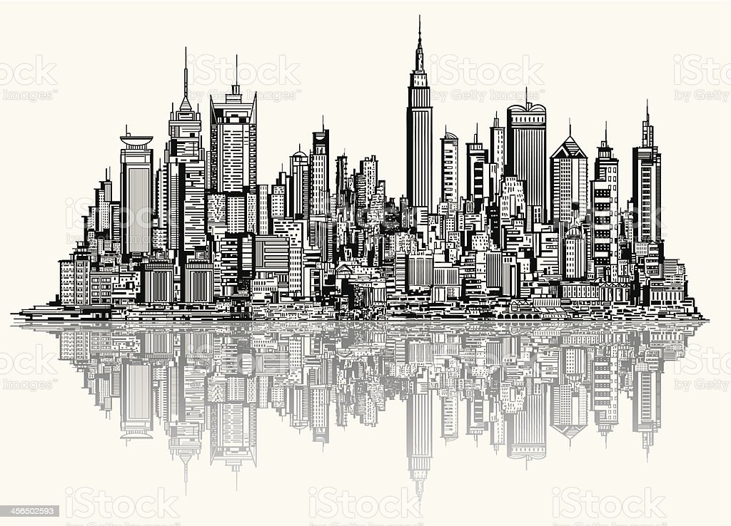 Super Sketch Of New York stock vector art 456502593 | iStock UU42