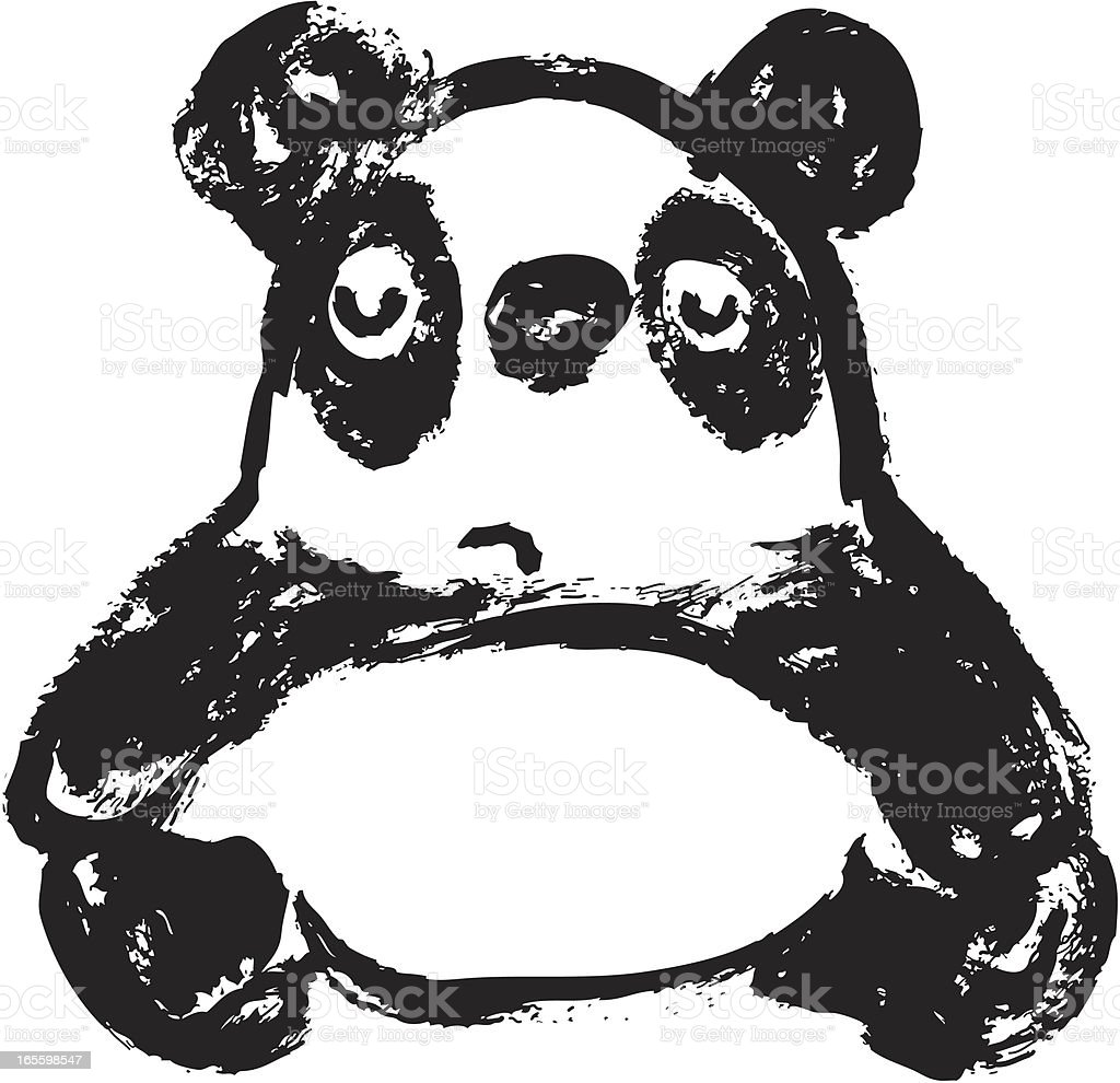 Sketch of panda Front royalty-free sketch of panda front stock vector art & more images of animal