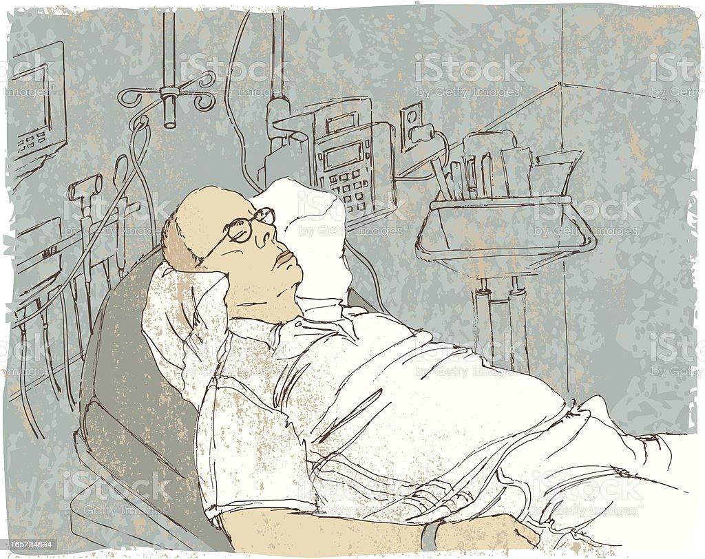Sketch of Patient in Emergency Room royalty-free stock vector art