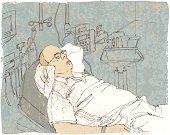 Sketch of Patient in Emergency Room