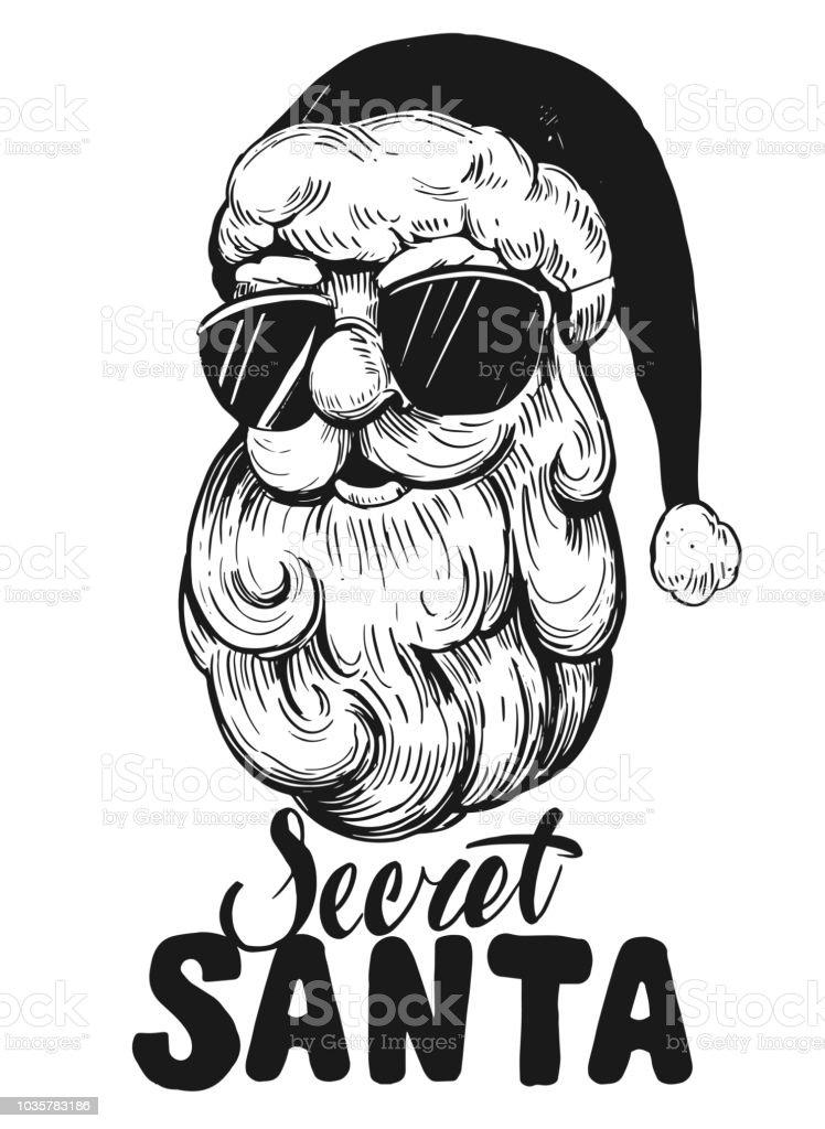 Vetores De Esboço Do Rosto De Papai Noel Pai Natal Secreto