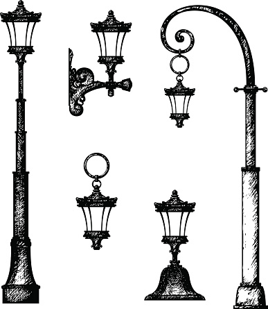 Sketch of street light