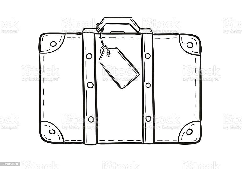 ilustración de boceto de la maleta y más vectores libres