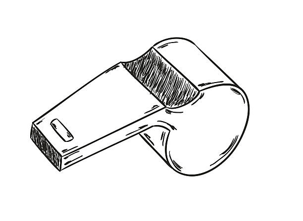 Esboço da apito - ilustração de arte em vetor