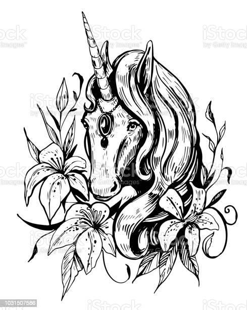 Sketch of unicorn hand drawn illustration converted to vector vector id1031507586?b=1&k=6&m=1031507586&s=612x612&h=tca8usu125vcyddqmi29dce4tzmi5adtmhx jtt9ek0=