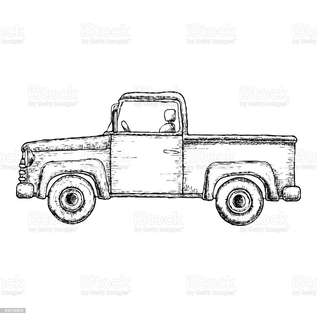 Ilustración De Dibujo Camioneta Y Más Vectores Libres De