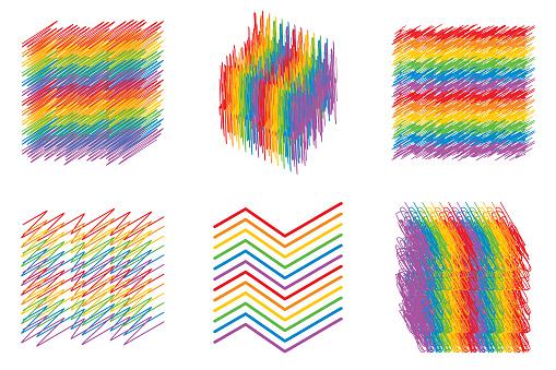 Sketch Rainbow Symbol Set