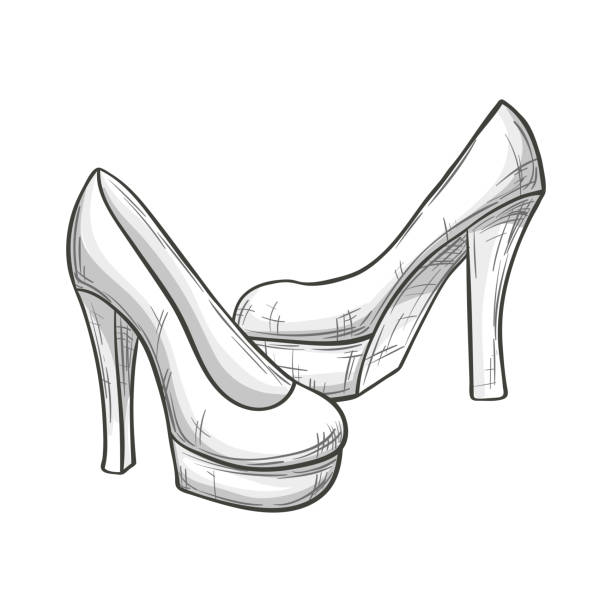 Top 60 Black And White High Heels Clip Art, Vector ...