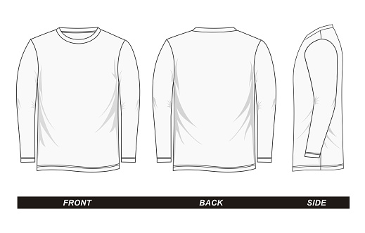 sketch Shirt long sleeve white