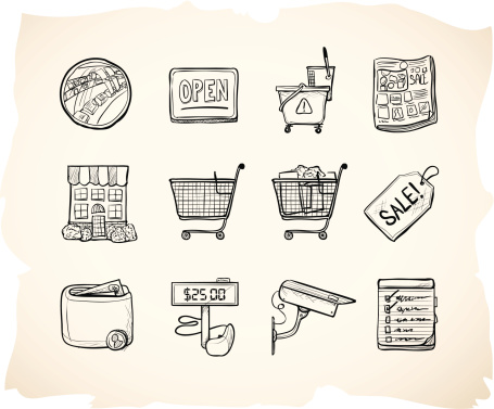 Sketch Shopping Store Icons