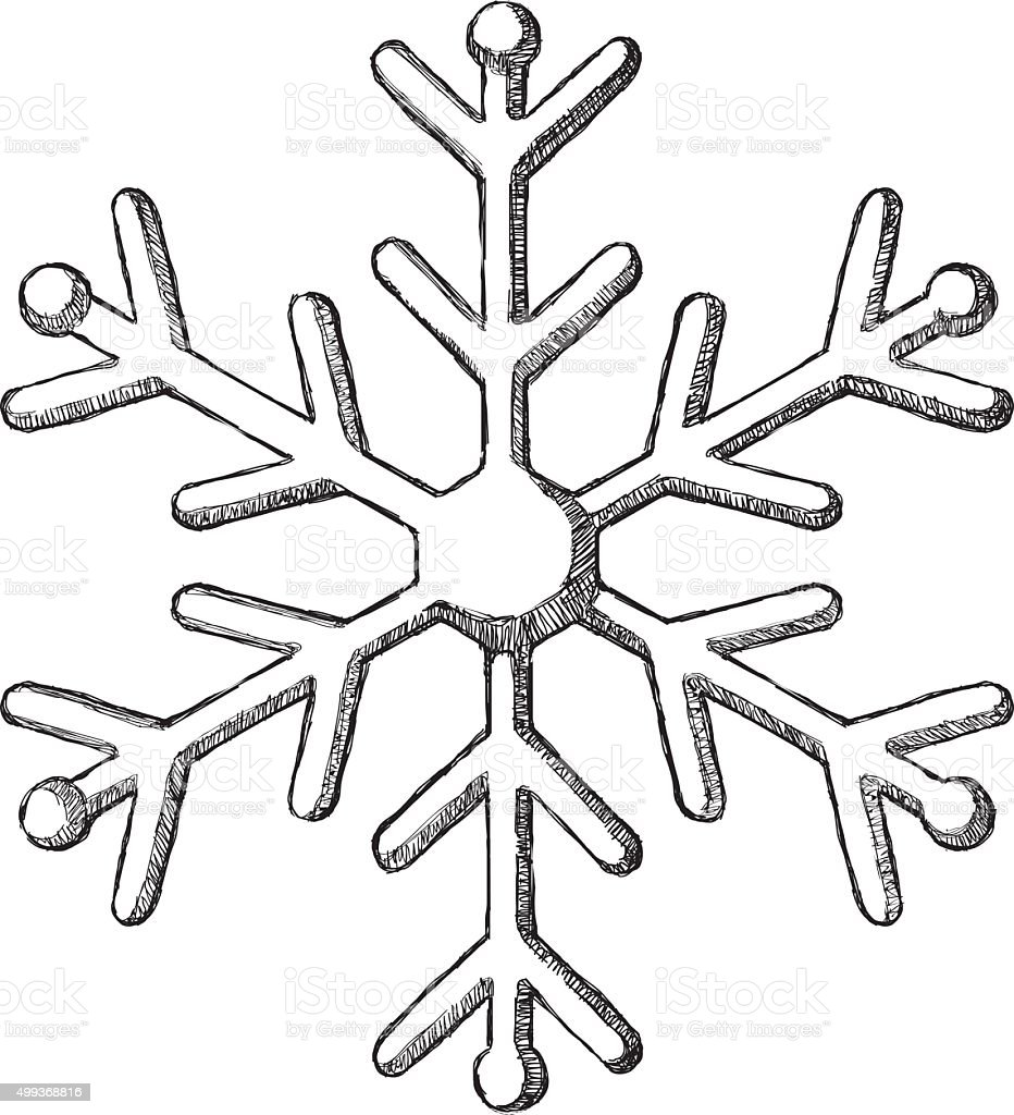 Sketch Snowflake Stock Vector Art & More Images of 2015 ...