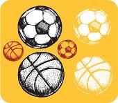 Sketch Sports Ball Set