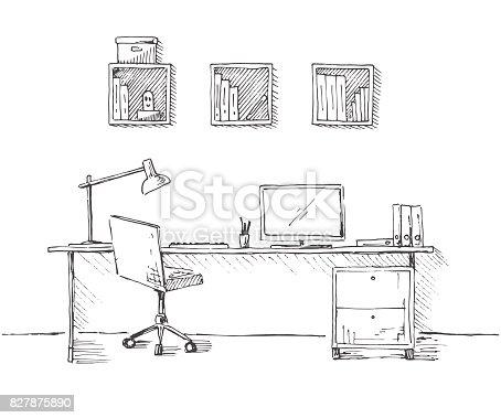 Boceto de la habitaci n silla de oficina escritorio varios for Stuhl design dwg