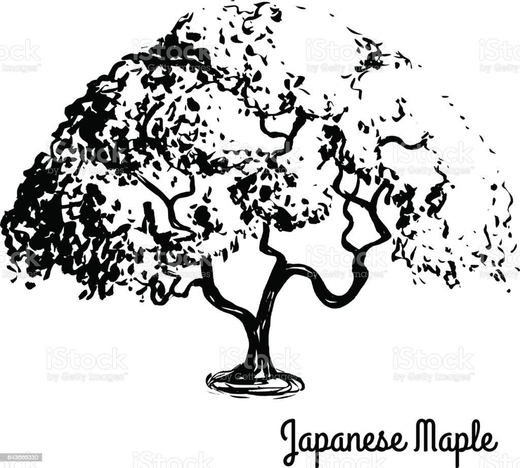 Sketch tree illustration vector art illustration