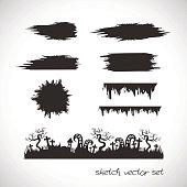 Sketch vector set, poster elements