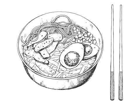 Noodle Bowl Drawing