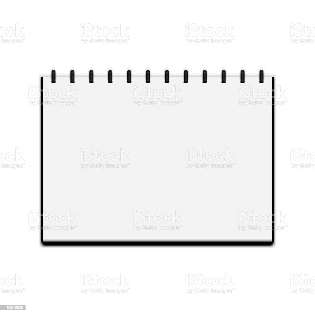 Sketchbook isolated on white background vector art illustration