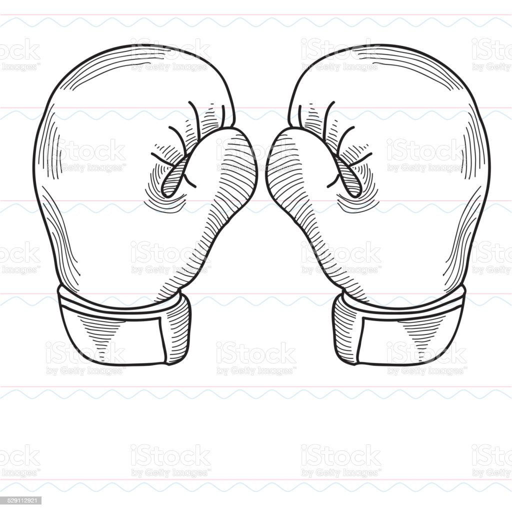 Sketchboxing boxing gloves sports stock vector art for Sketch online free