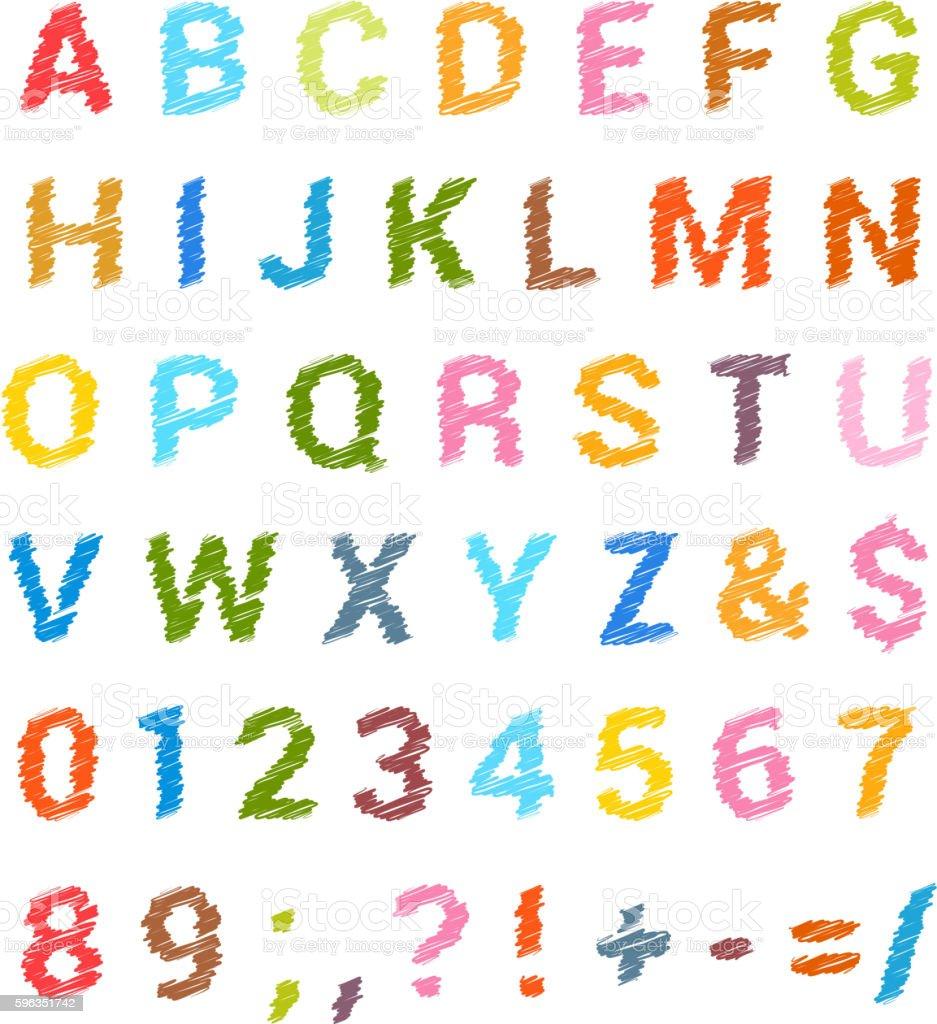 Sketched alphabet set Lizenzfreies sketched alphabet set stock vektor art und mehr bilder von alphabet