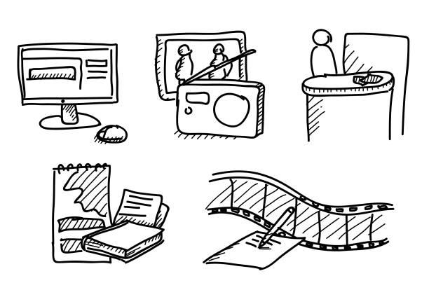 Sketched Mix aus mehreren Medienabfragen – Vektorgrafik