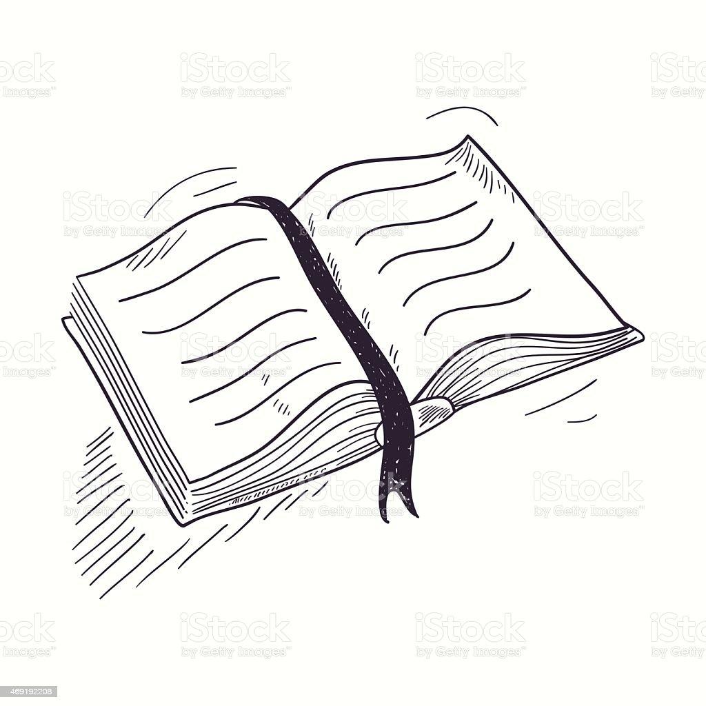 Dessin Icone De Livre Ouvert De Bureau Vecteurs Libres De